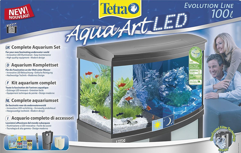 Relativ Tetra AquaArt Evolution Line LED Aquarium-Komplett-Set 100 Liter  GT99