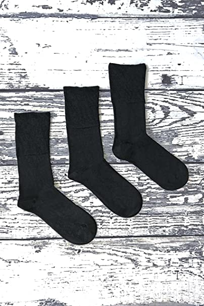 Sock Snob 3 pares hombre invierno sin elasticos calcetines diabeticos para circulacion en 2 colores (39-45 eur, THRDIAM01): Amazon.es: Ropa y accesorios
