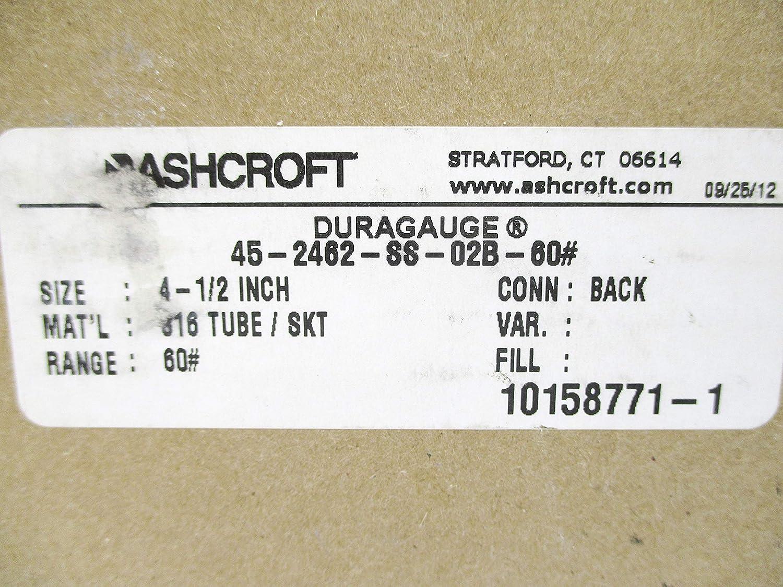 Ashcroft 45-2462-SS-02B-60# 0-60PSI NSMP