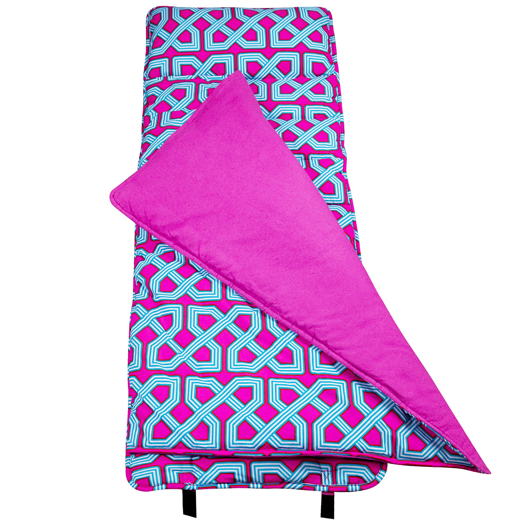 Original Nap Mat, Wildkin Children's Original Nap Mat with Built in Blanket and Pillowcase, Pillow Insert Included, Premium Cotton and Microfiber Blend, Children Ages 3-7 years – Trellis