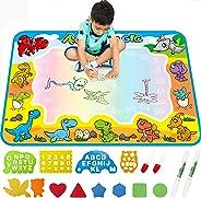 FREE TO FLY Large Aqua Drawing Mat for Kids Water Painting Writing Doodle Board Toy Color Aqua Magic Mat Bring Magic Pens Ed