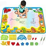 FREE TO FLY Large Aqua Drawing Mat for Kids Water Painting Writing Doodle Board Toy Color Aqua Magic Mat Bring Magic Pens Edu