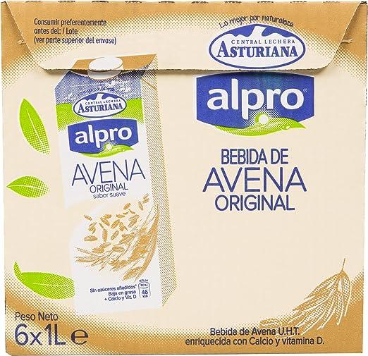 Alpro Central Lechera Asturiana Bebida de Avena - Paquete de 6 x 1000 ml - Total: 6000 ml: Amazon.es: Alimentación y bebidas