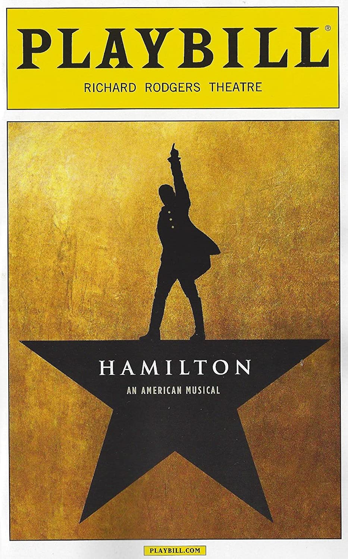 Amazoncom Hamilton An American Musical Playbill From April - Playbill program