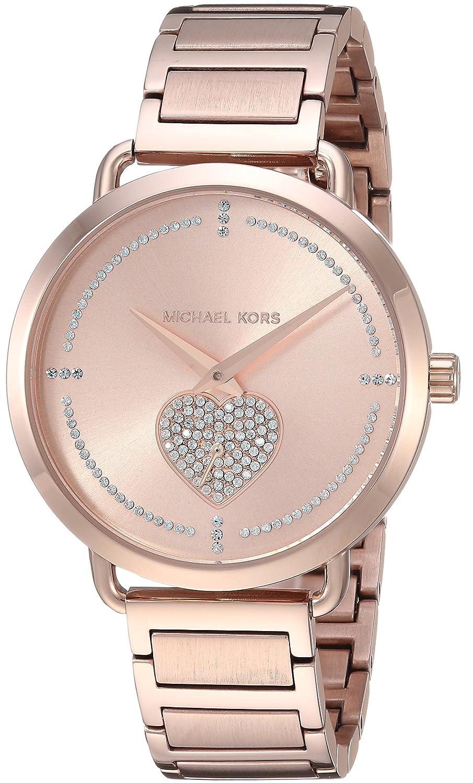 34b3baaeae62 Amazon.com  Michael Kors Women s Portia Analog Display Analog Quartz Rose  Gold Watch MK3827  Michael Kors  Watches