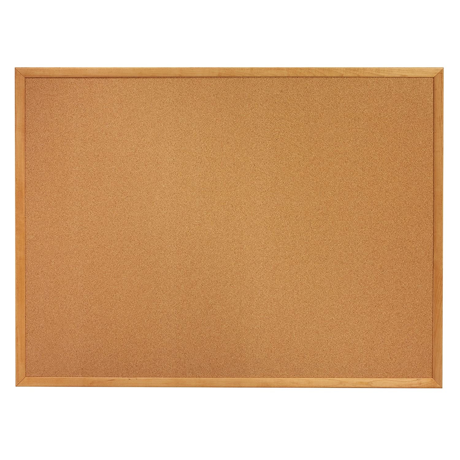 quartet cork bulletin board 4 x 3 feet corkboard oak finish frame 304