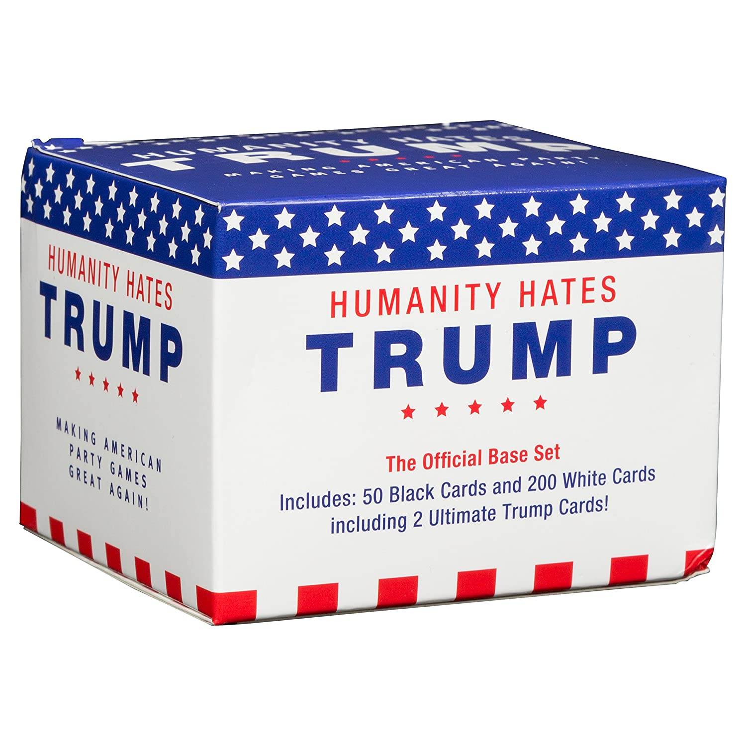 Amazon.com: SCS Direct Humanity Hates Trump Card Game   Base Set (200 White  Cards, 50 Black Cards)   All Original Cards NOT In Any Expansions: Toys U0026  Games