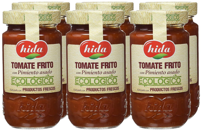 Hida Tomate Frito con Pimiento Asado Ecológico - Paquete de 6 x ...
