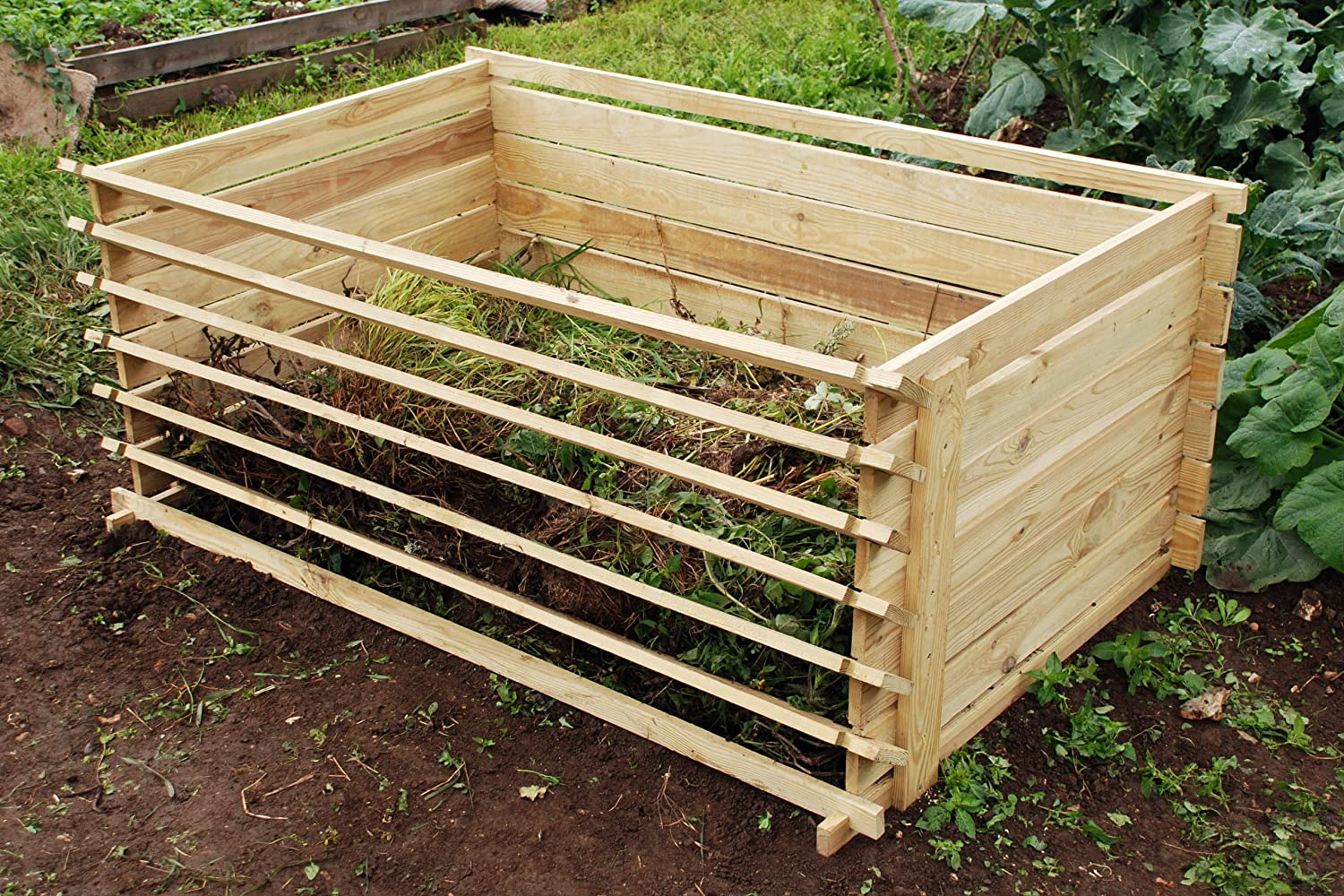 easyload wooden compost bin extra large 897 litres amazoncouk garden u0026 outdoors