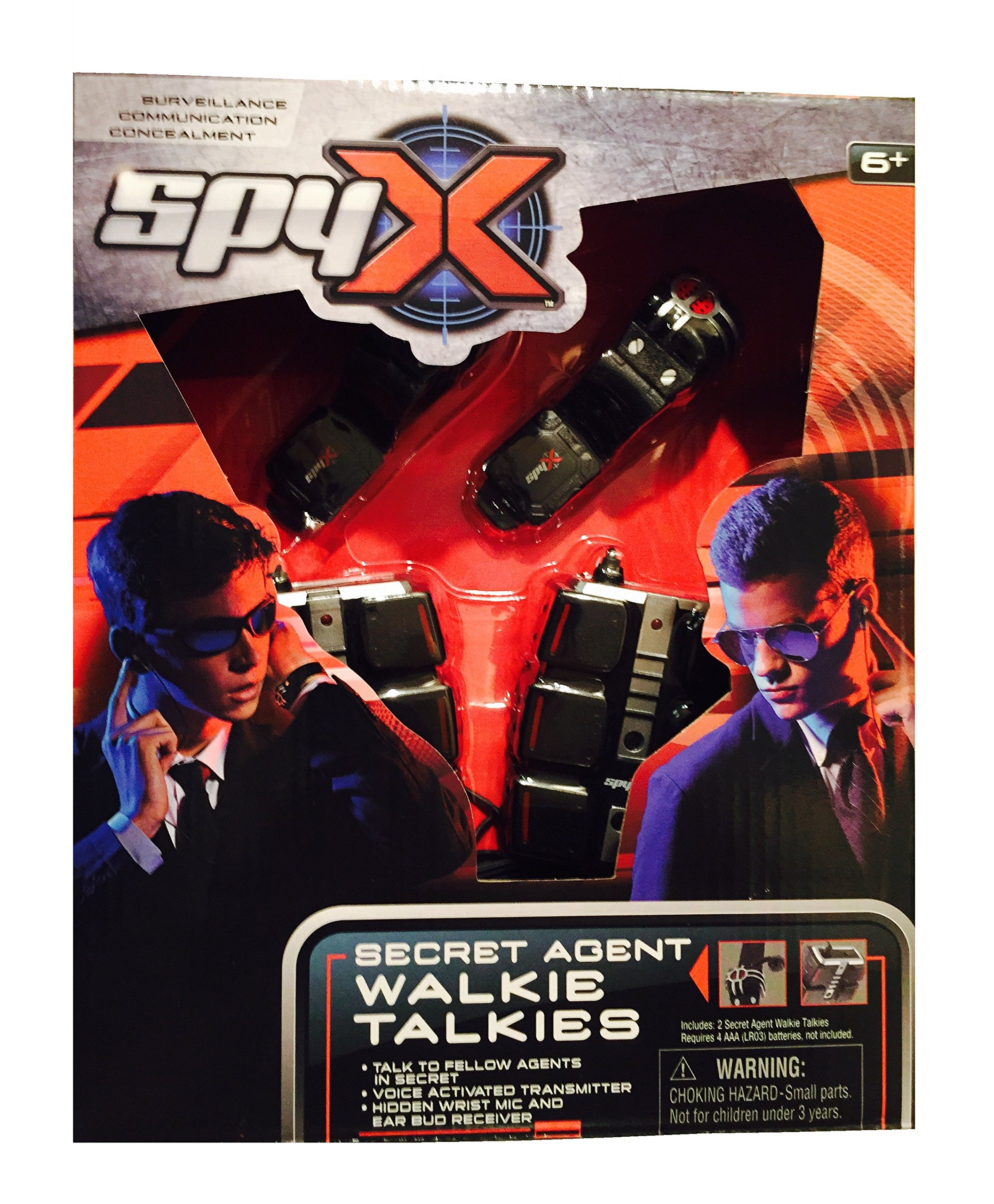 MukikiM SpyX / Secret Agent Walkie Talkie - Voice Activated Hands Free Spy Walkie Talkies. Spy like the Pros! Perfect addition for your spy gear collection!