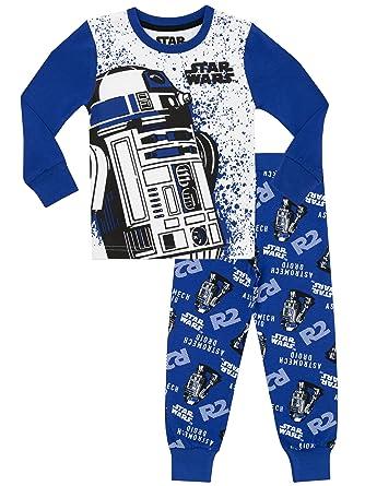 7d73abc3281d2 Star Wars - Ensemble De Pyjamas R2D2 - Garçon - Bien Ajusté: Amazon ...