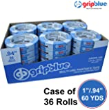 "GripBlue™ 1"" (.94""/24mm) X 60 YDs Multi-Use Blue Painters Tape 