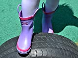 Outee Kids Toddler Girls Rain Boots Natural Rubber