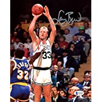 $119 » Larry Bird Autographed 8x10 Photo Boston Celtics vs. Magic Johnson Beckett BAS Stock #177631