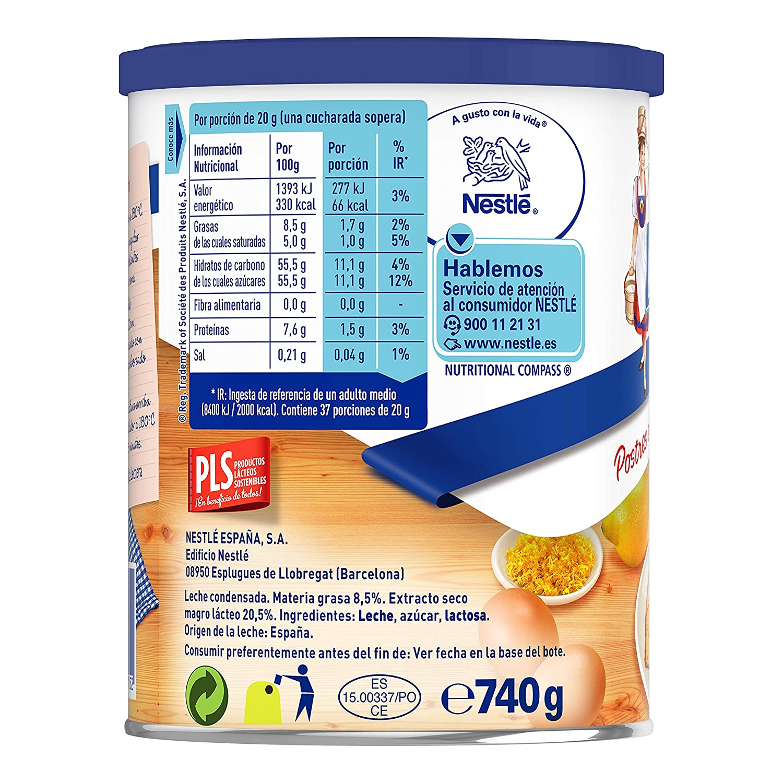 Nestlé La Lechera - Leche condensada entera - Lata de leche condensada entera abre fácil 740 gr: Amazon.es: Amazon Pantry