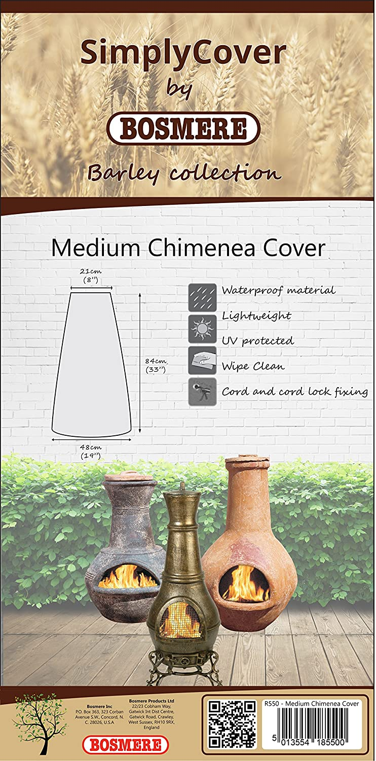 Bosmere R550 Simply Cover Barley (Beige) Medium Chimenea Cover BOSMERE PRODUCTS LIMITED
