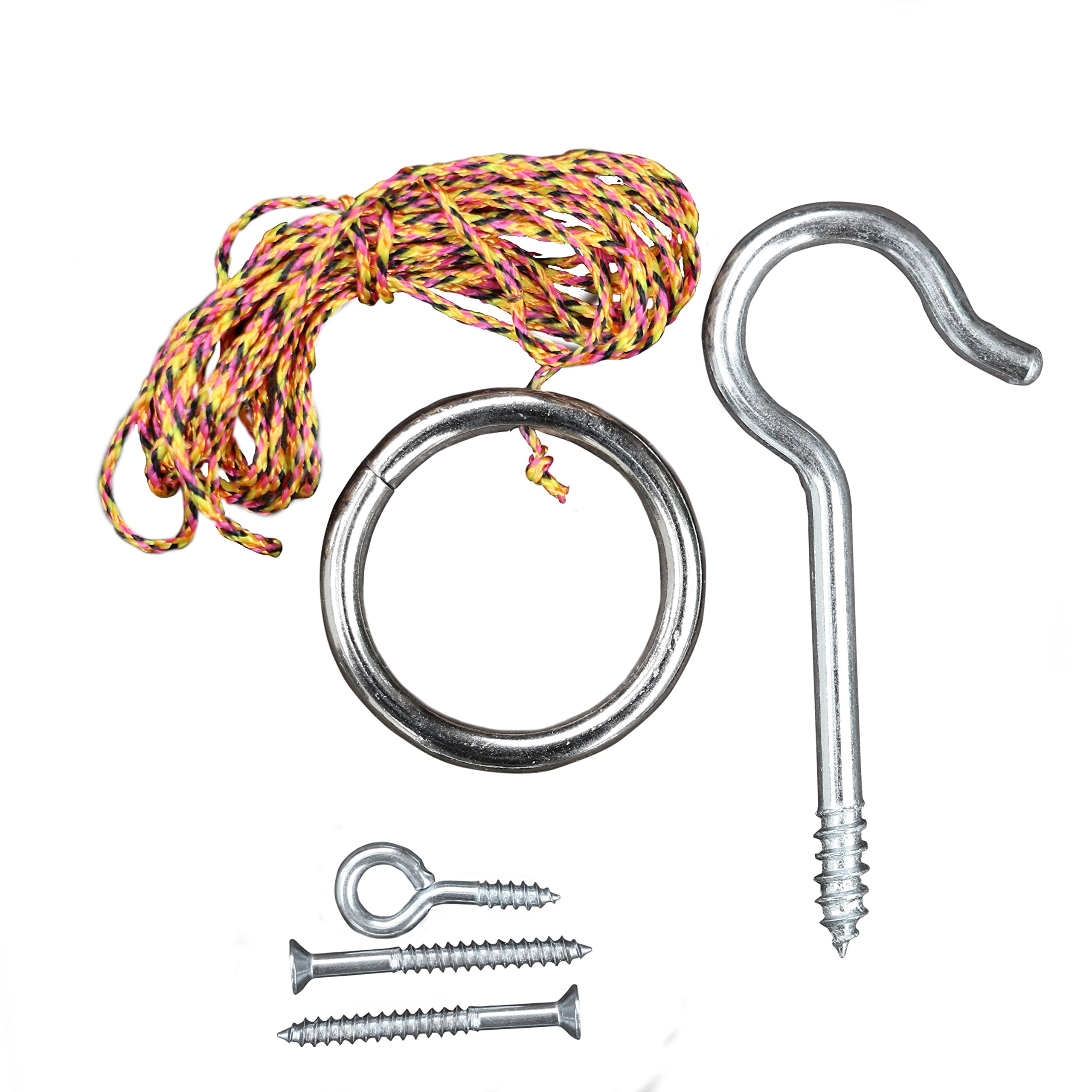 Tiki Toss Original Hook and Ring Game Essentials- Includes Hook, Ring, Mounting Screws, and Thread by