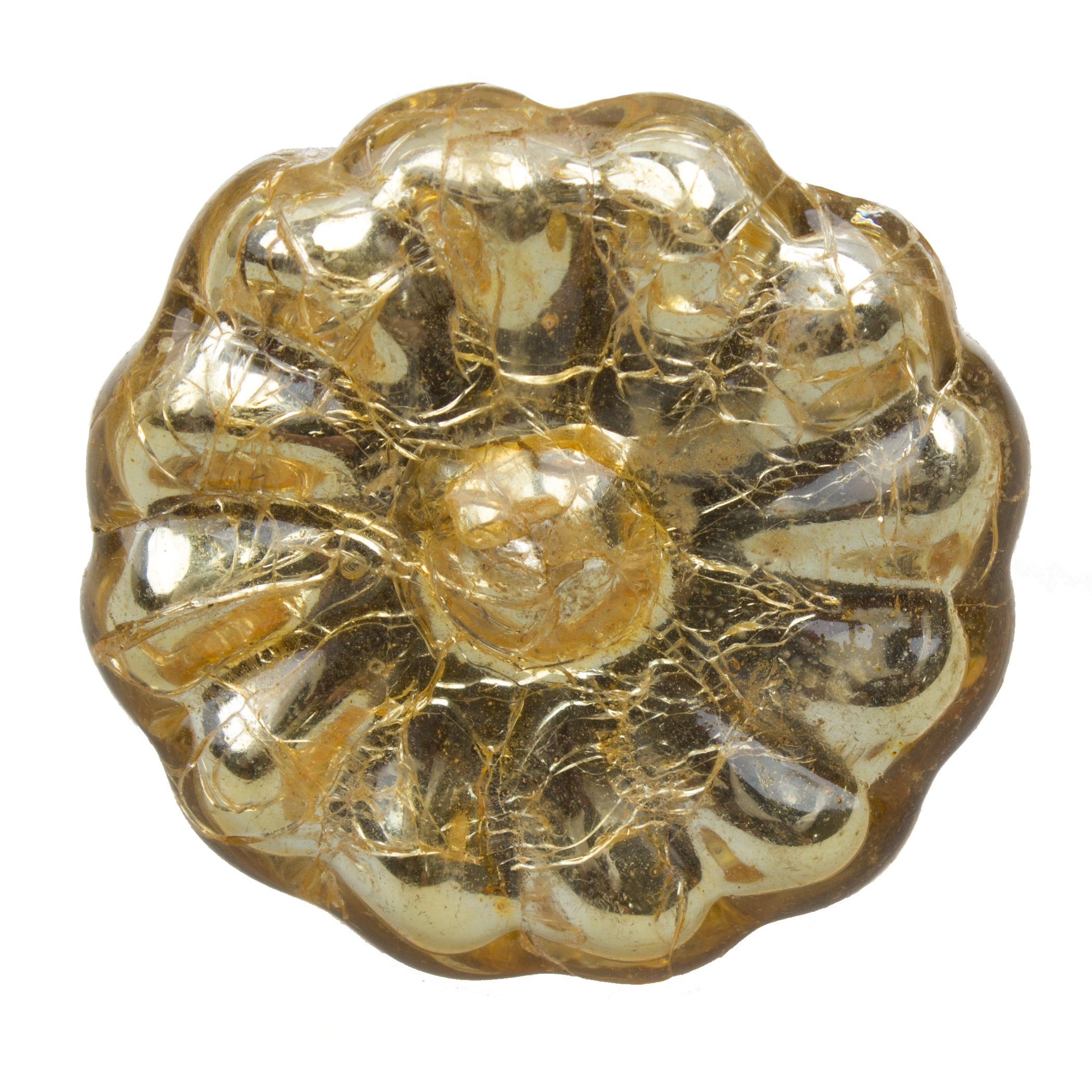 GlideRite Hardware 231007-M-1 Type Hooks Round Mercury Glass Cabinet Knob, 1.625'', Gold