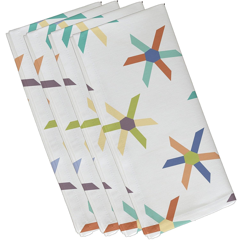 Geometric Print Napkin 19 x 19 E by design Pinwheel Pop Lavender 19 x 19 N4GN418PU14