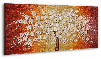 Ys Art Tableau Peinture Acrylique Arbre Chanceux Peint à La Main