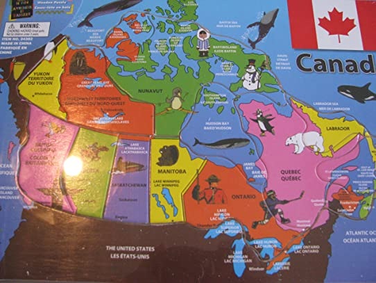 Canada Map Puzzle Casse Tete Amazonca Home Kitchen - Canada map puzzles