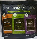 Krave Jerky Variety - 8 Pack Sweet Chipotle & Chili Lime Beef, Black Cherry Barbecue Pork 12oz