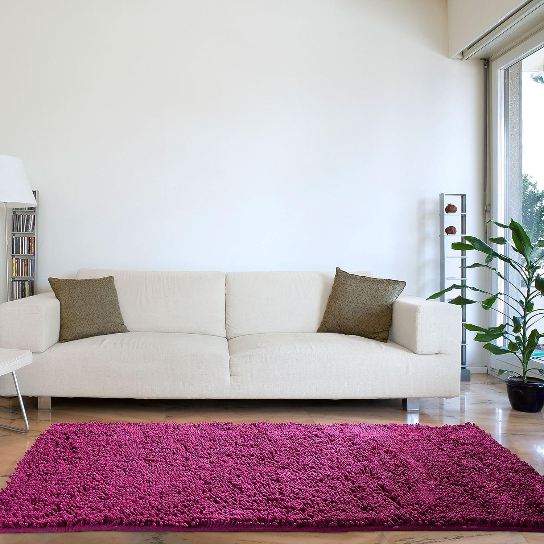 Lavish Home High Pile Carpet Shag Rug, 30 by 60-Inch, Blue 67-13-B