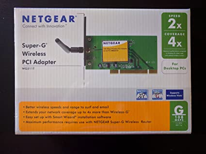 NETGEAR 108 MBPS WIRELESS PCI ADAPTER WG311T DOWNLOAD DRIVERS