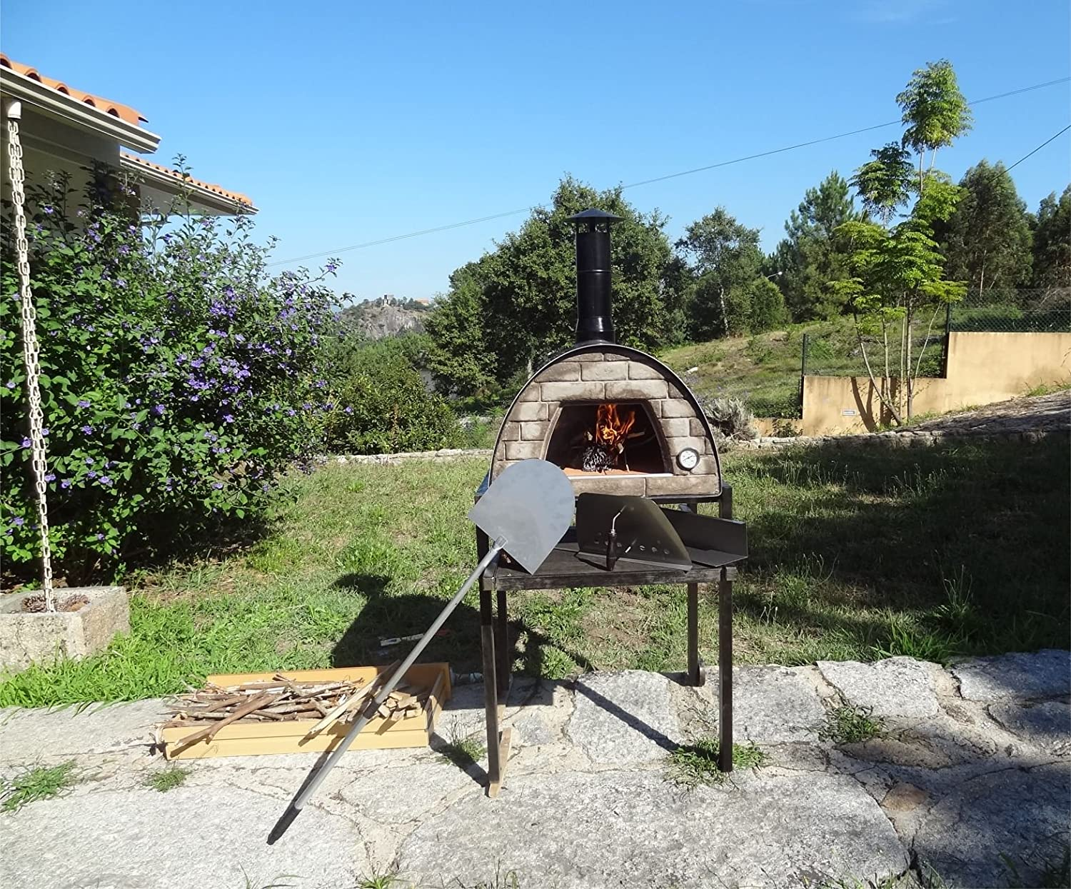 amazon com mobile portable wood fired pizza oven