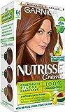 Garnier Nutrisse Creme Coloration Heller Bernstein 64, Färbung für Haare für permanente Haarfarbe (mit 3 nährenden Ölen) - 3er Pack (3 x 1 Stück)