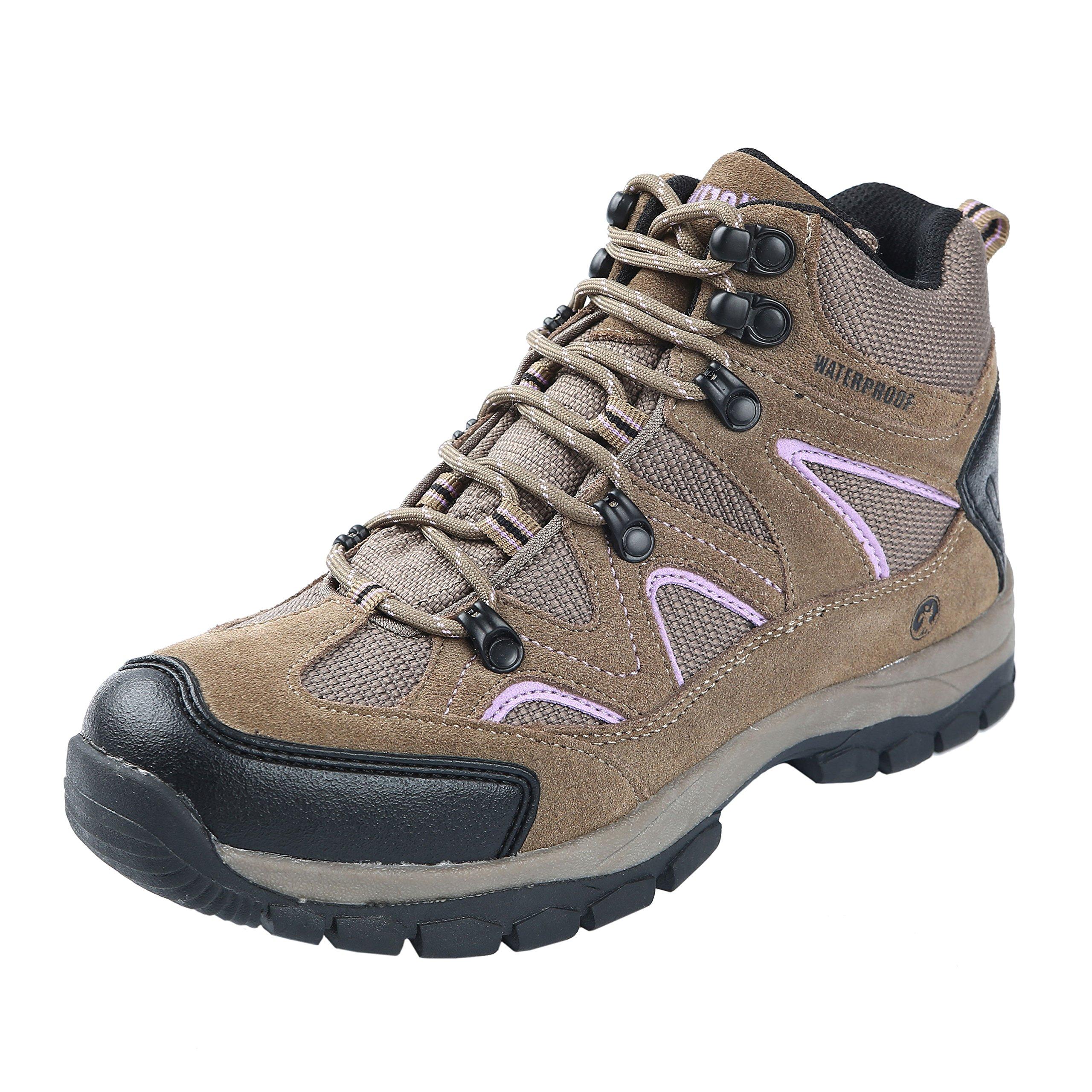 Northside Women's Snohomish Hiking Boot, Tan/Periwinkle, 7 M US