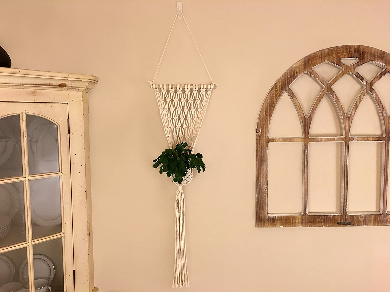 Amazon.com: Macrame Wall Hanging Boho Flower Planter Premium Quality ...