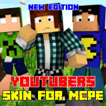 Amazoncom Mods Youtubers Skins For MCPE Appstore For Android - Skins para minecraft pe youtuber