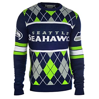 62d460d2ee4 Image Unavailable. Image not available for. Color  Seattle Seahawks  Exclusive NFL Argyle Sweater Large