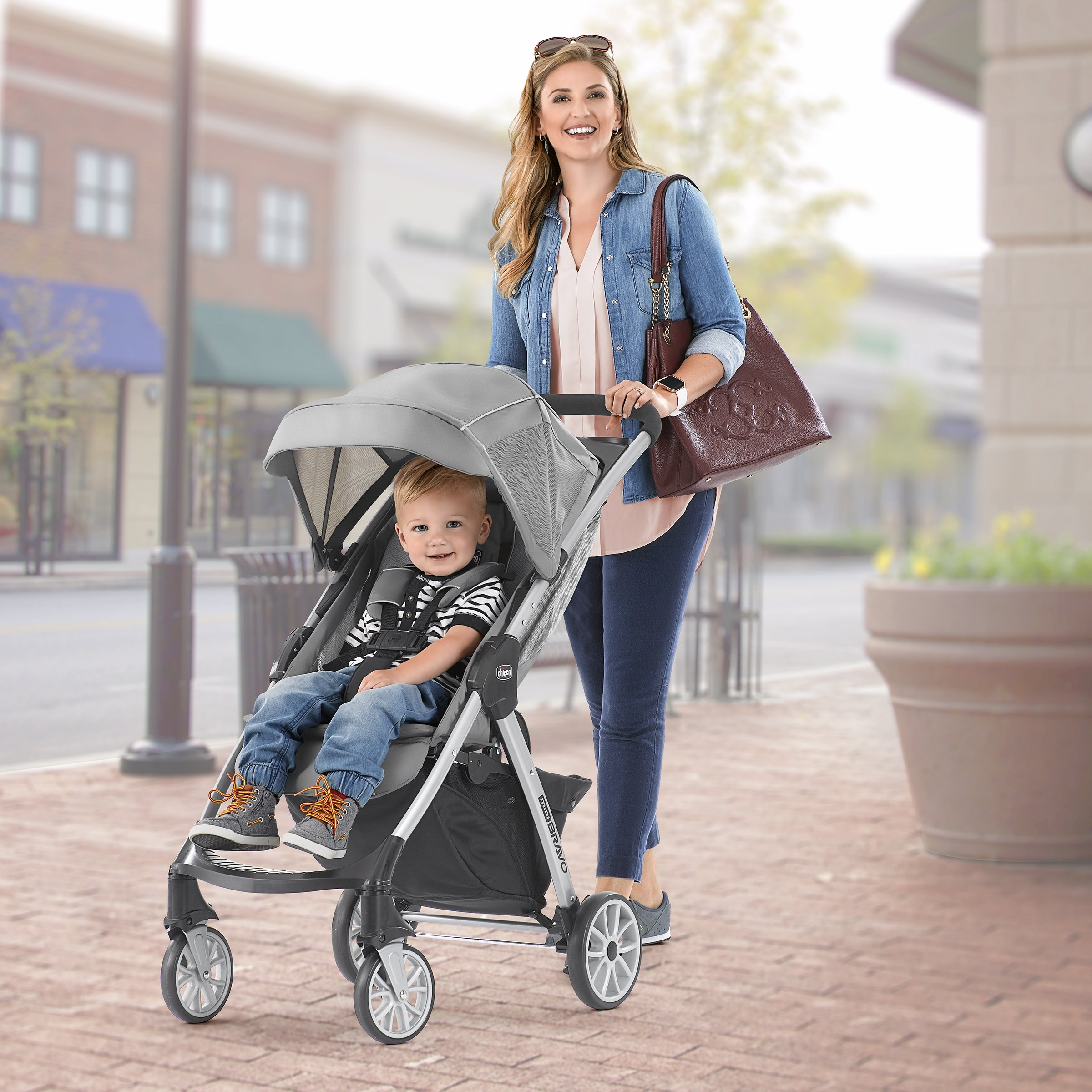 Chicco Mini Bravo Lightweight Stroller, Mulberry by Chicco (Image #9)