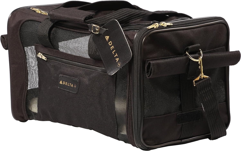 Sherpa Travel Delta Air Lines Pet Carrier, Medium, Black : Soft Sided Pet Carriers : Pet Supplies