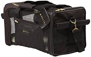 Sherpa Travel Delta Air Lines Approved Pet Carrier, Black, Medium
