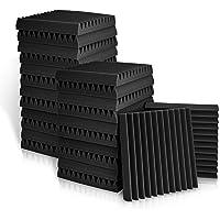 Paneles acústicos, paneles de espuma acústica de 5 x 30 x 30 cm, azulejos de cuña de estudio, paneles de sonido, cuñas…