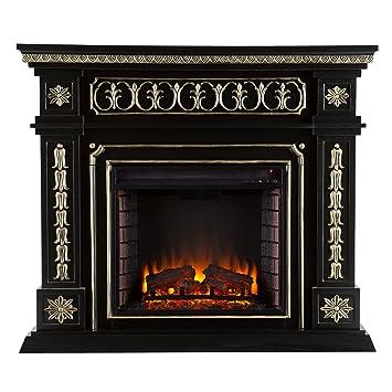 Amazon.com: Southern Enterprises Donovan Electric Fireplace, Black ...
