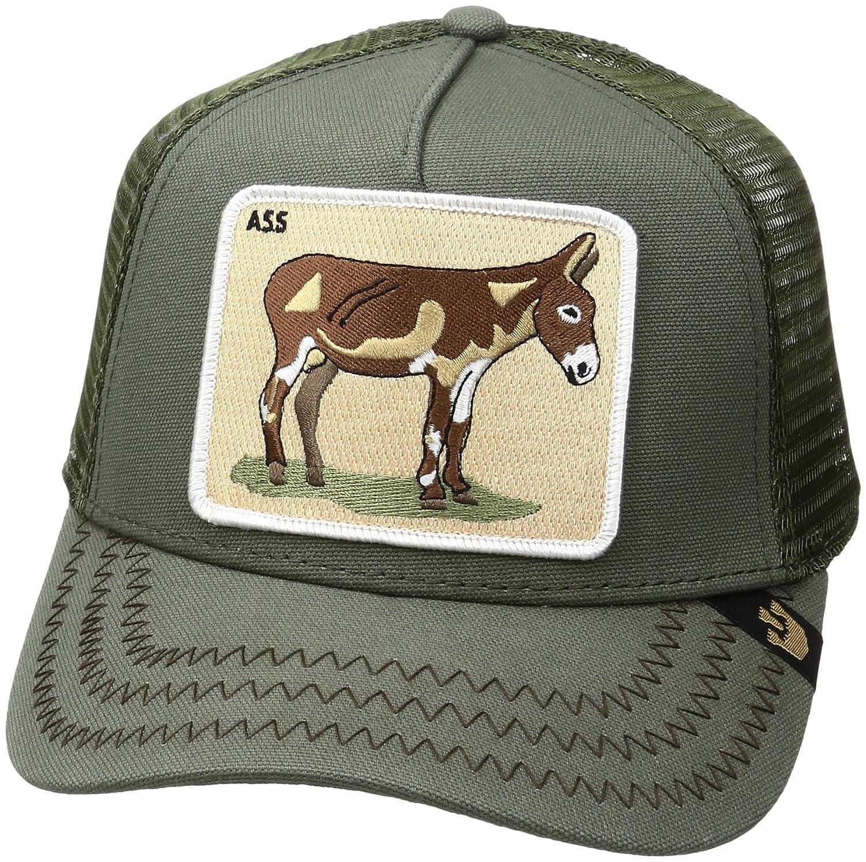 e7ca3fcb039b2 Goorin Bros. Men s Animal Farm Trucker Olive Donkey Hat With Mesh Adjustable