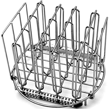 LIPAVI Sous Vide Rack – Model R20, Stainless Steel, Maximum Diameter 8 Inch, Height 6.6 Inch. Adjustable, Collapsible, Ensures Even and Quick Warming with Sous Vide Cooking.