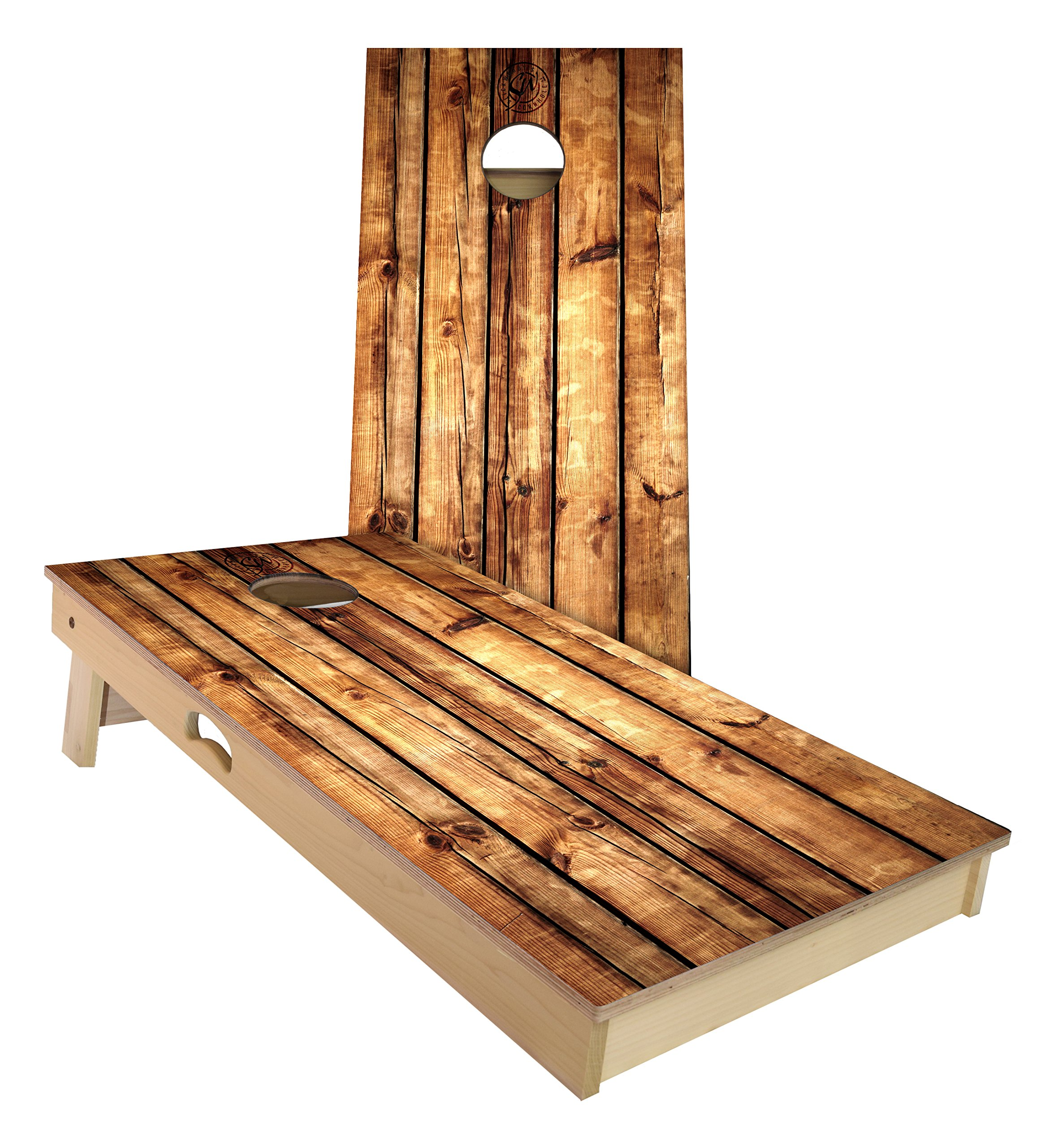 Slick Woody's Rustic Pallet Cornhole Set 4 by 2 feet by Slick Woody's Cornhole Co.