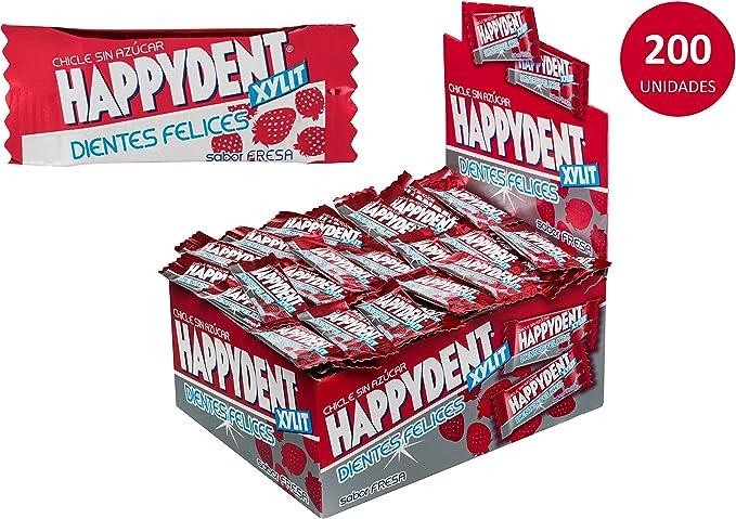 Happydent Fresa, Chicle Sin Azúcar - 200 unidades: Amazon.es: Alimentación y bebidas