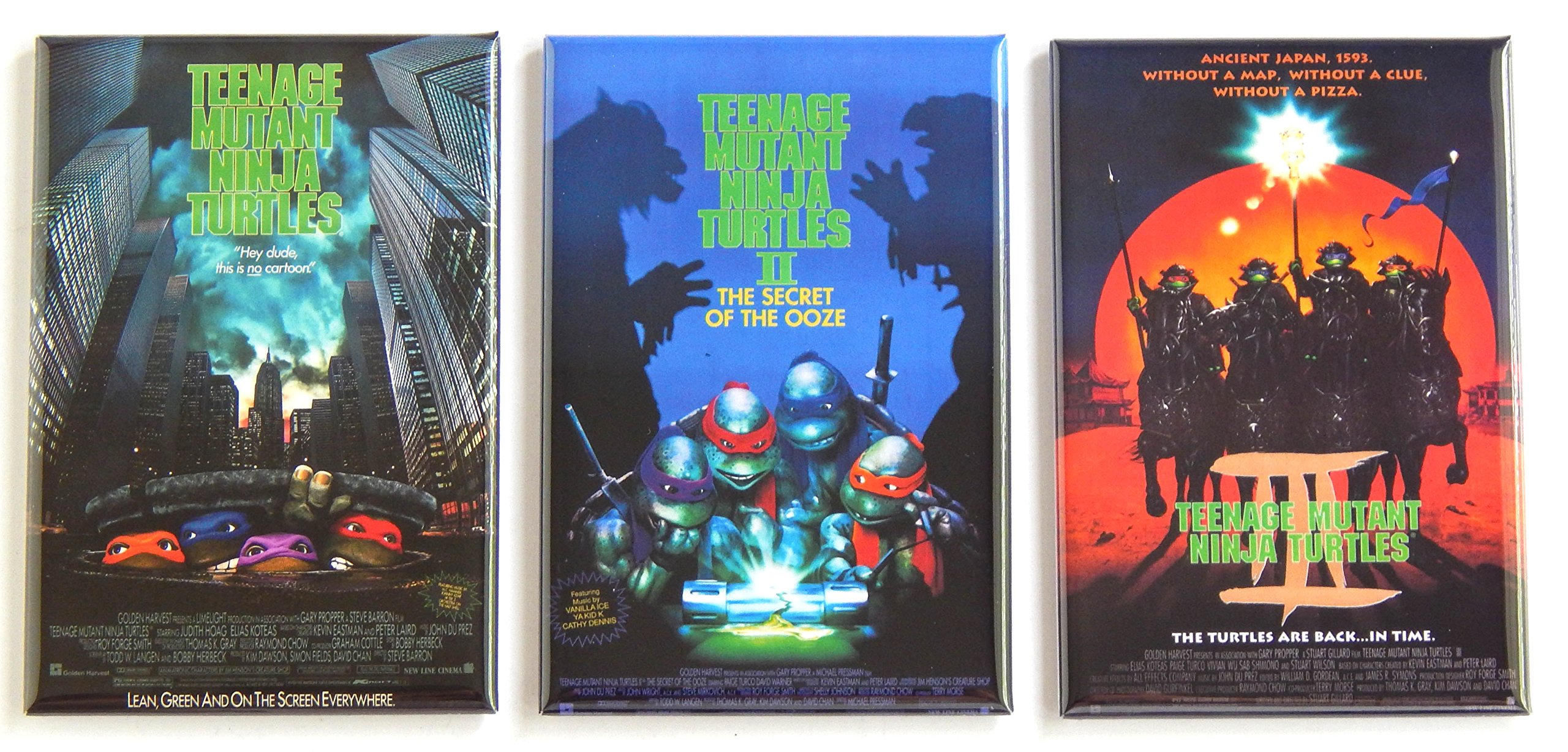 Teenage Mutant Ninja Turtles Movie Poster Fridge Magnet Set (2 x 3 inches each)
