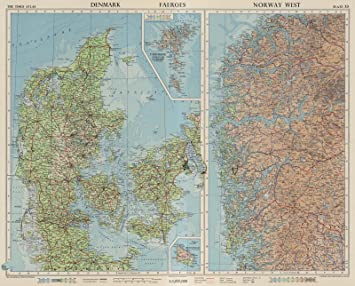 Amazon world atlas 1955 denmark faeroes norway west world atlas 1955 denmark faeroes norway west plate 53 v gumiabroncs Gallery