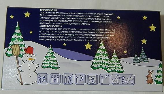 Dimensioni: 14 x 74 mm 5 x 50 Pezzi Colore Naturale Ebersbacher Wachswaren PK 50//500 Candele a Piramide