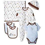 Little Me Baby Boys' Newborn Gift Set, Blue/Multi, 9 Months