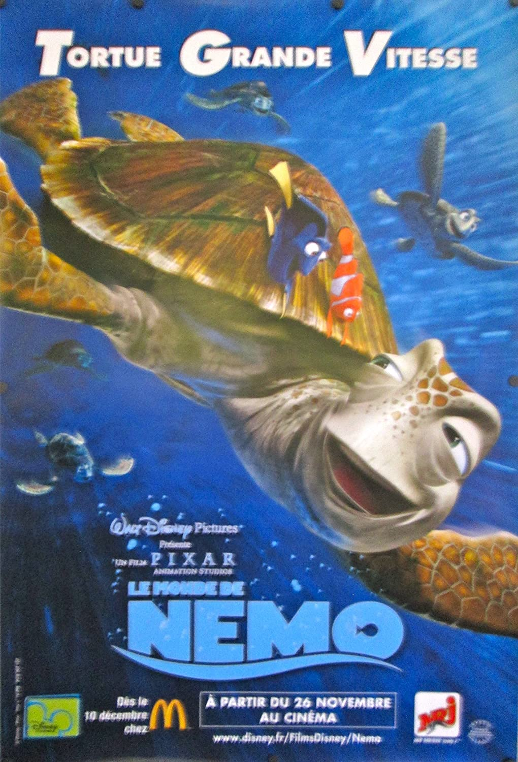 Poster original finding nemo advance french movie poster crush at poster original finding nemo advance french movie poster crush at amazons entertainment collectibles store altavistaventures Image collections