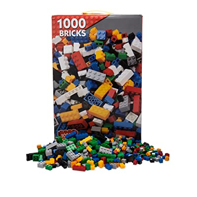Tiny Owl Toys Building Bricks - 1000 Pieces - Compatible with Lego & All Major Brands - Complete Kit Including Storage Box: Toys & Games