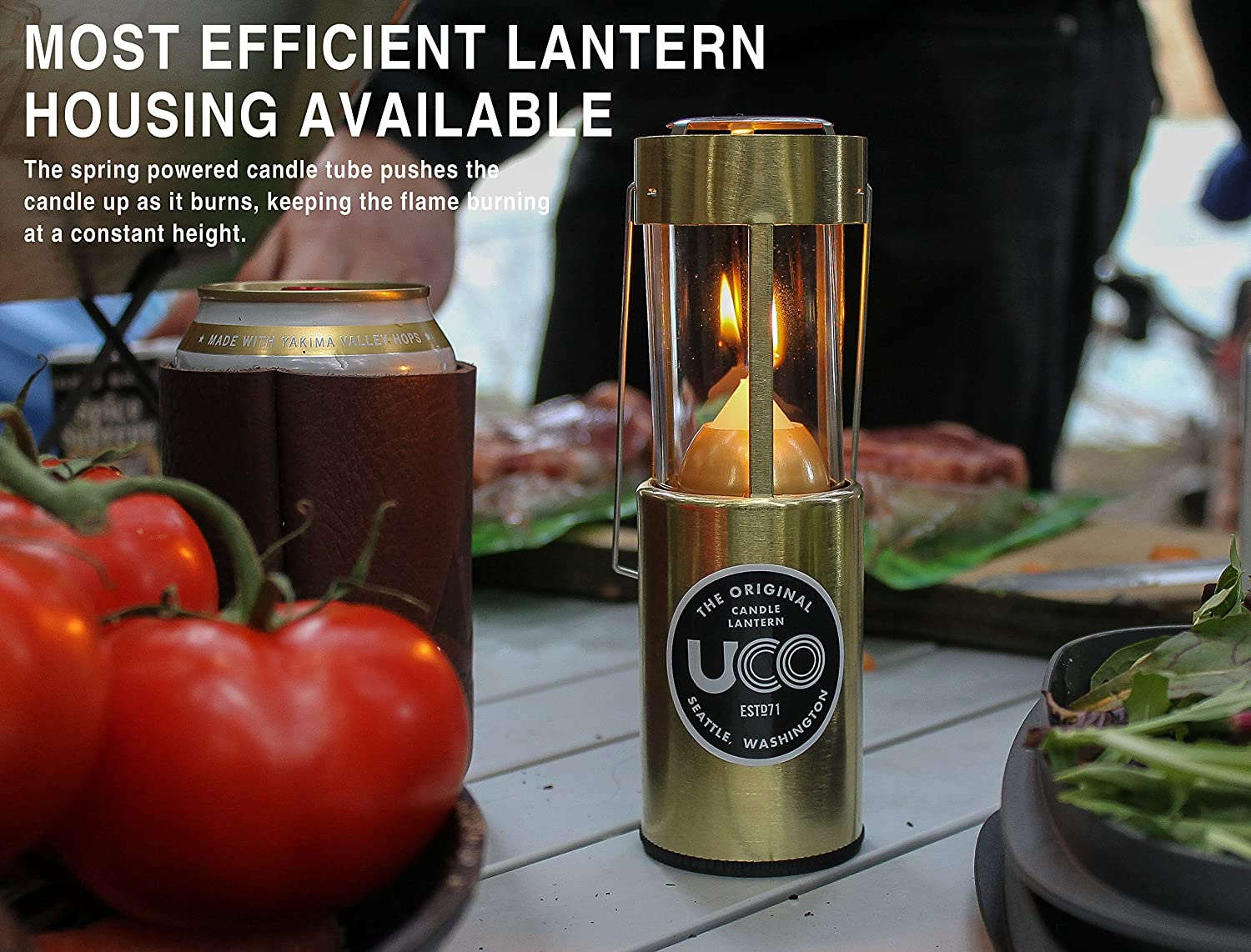 Anodized Black UCO Original Collapsible Candle Lantern